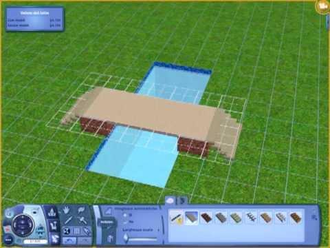 Tutorial the sims 3 come costruire un ponte su una for Piscina sims 4