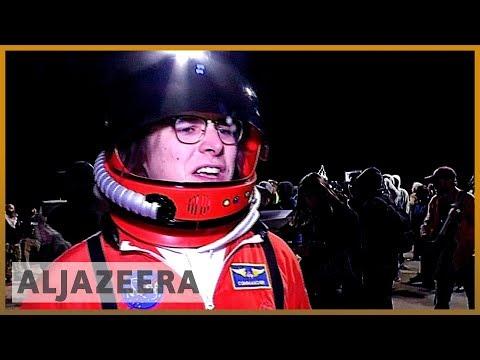 Al Jazeera English: UFO enthusiasts gather outside Area 51 in the US