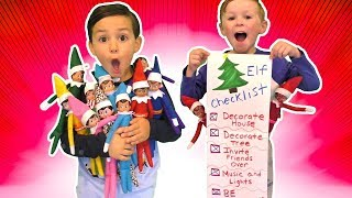 Our Elf on the Shelf are Back! The Magical Elves Checklist 2019