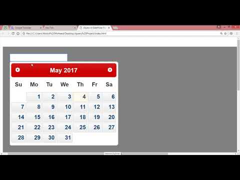 jquery datepicker tutorial (video-38) thumbnail