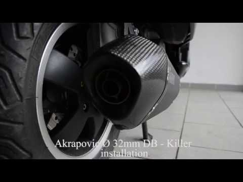vespa akrapovic 32mm db killer installation youtube. Black Bedroom Furniture Sets. Home Design Ideas