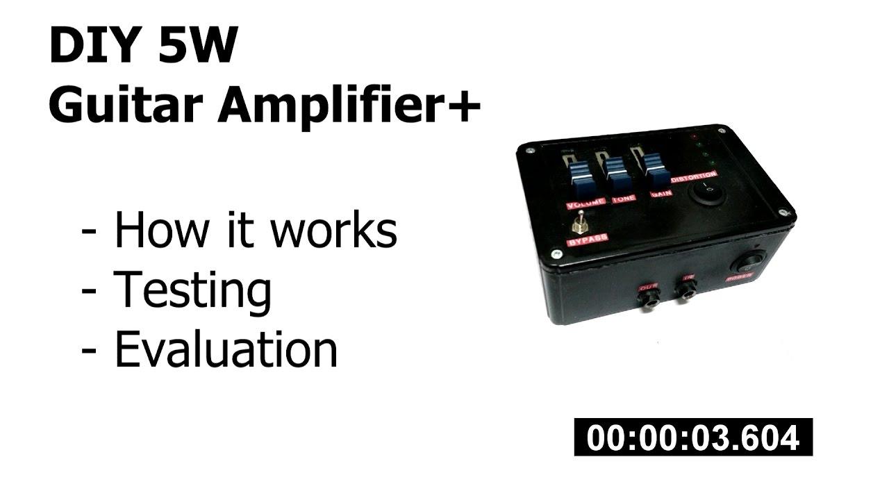 Diy 5w Audio Amplifier Youtube Circuit Of Lm380 Amplifiercircuitsaudio