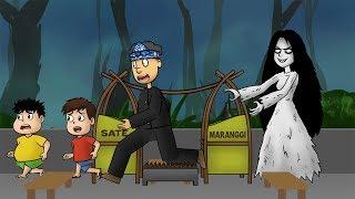 kartun horor lucu - Kuntilanak Mabok Sate