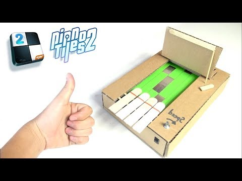 How to Make Piano Tiles 2 from Cardboard (Piano Tiles 2 in Real Life!)