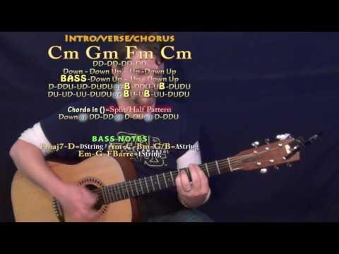 Not Nice (PARTYNEXTDOOR) Guitar Lesson Chord Chart - Cm Gm Fm
