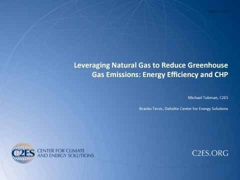 Webinar: Leveraging Natural Gas to Reduce GHG Emissions -The Power Sector