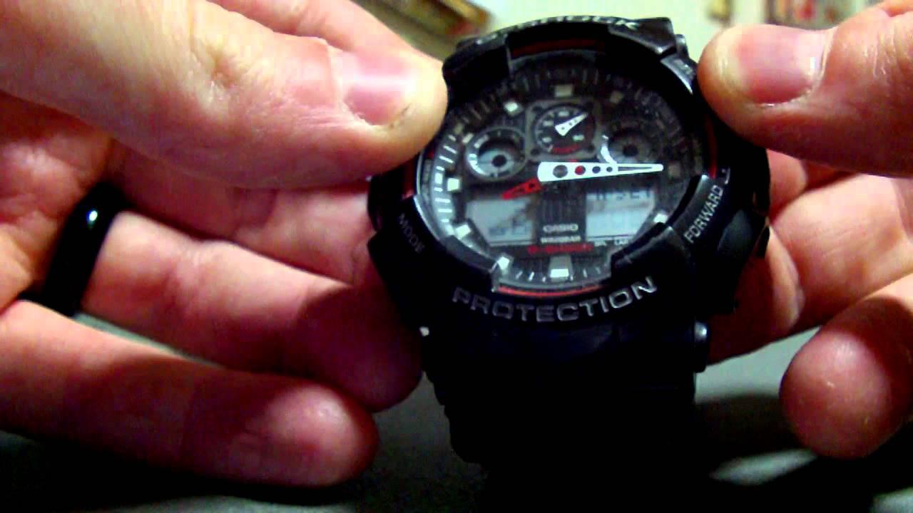 Casio G Shock Battery Replacement Model 5081 Youtube Gshock Original Ga100mb 1adr Ga 100mb