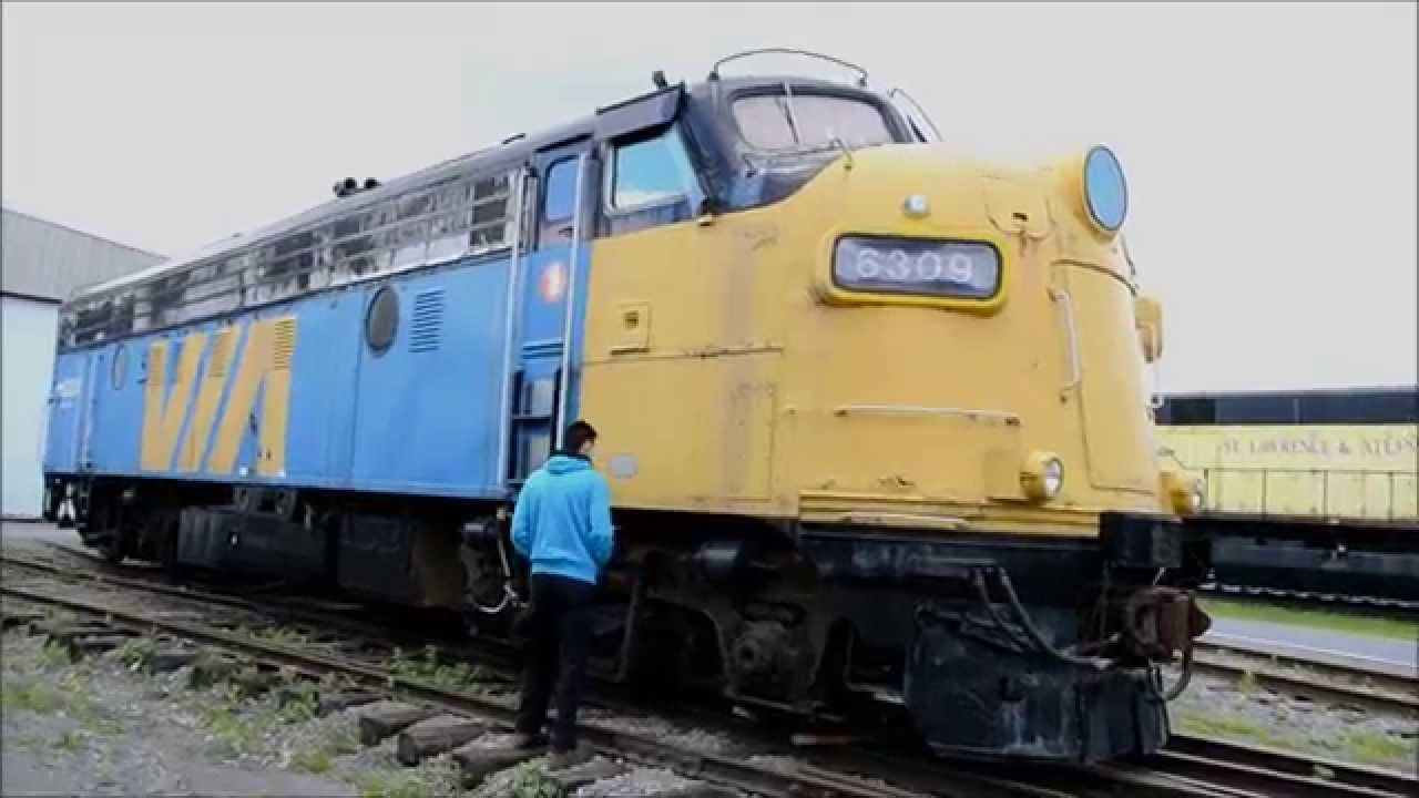 Classic Via Rail F Unt Locomotive 6309 Walk Around Youtube