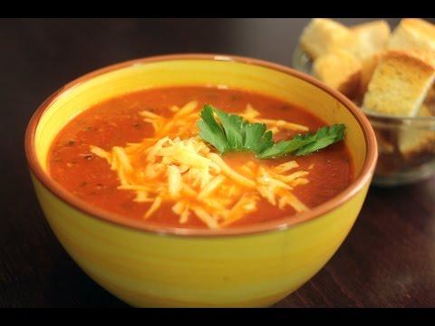 Томатный крем суп с сыром