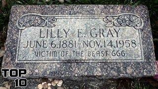 Top 10 Scary Gravestones