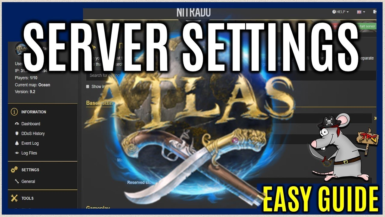 ATLAS Server Settings How To Customise Your Own Server