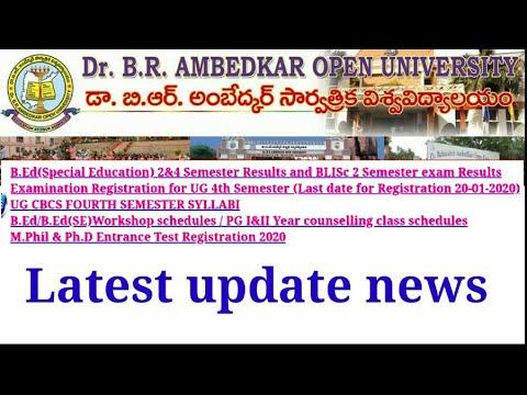 Dr. B.R. Ambedkar Open University Latest Update News