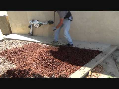 How To Install Landscape Bark Youtube
