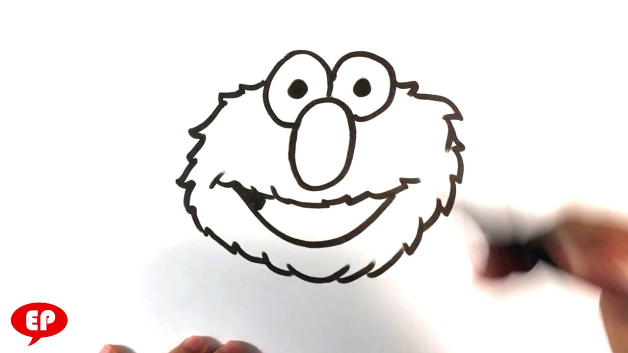 how to draw elmo from sesame street easy pictures to draw