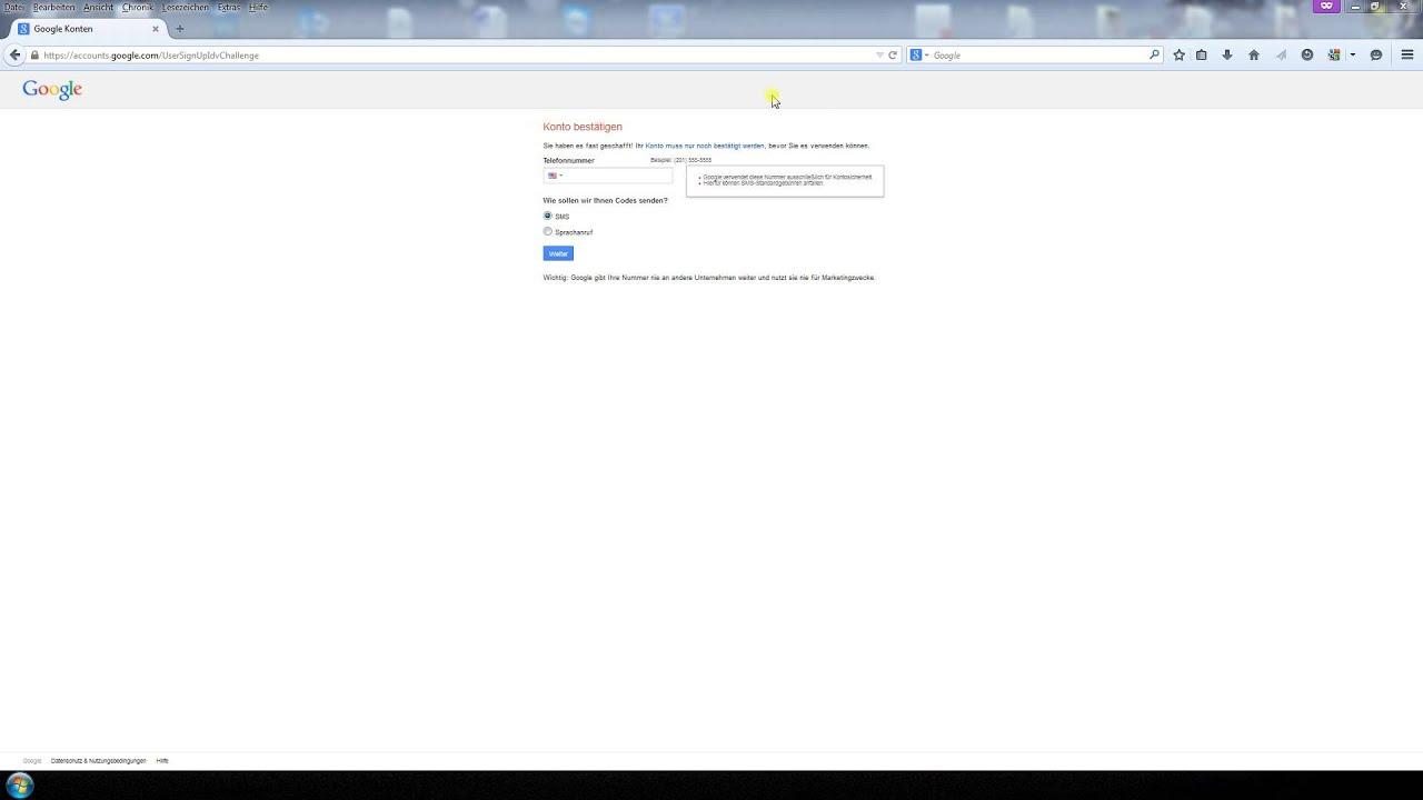 Kostenlos google konto erstellen
