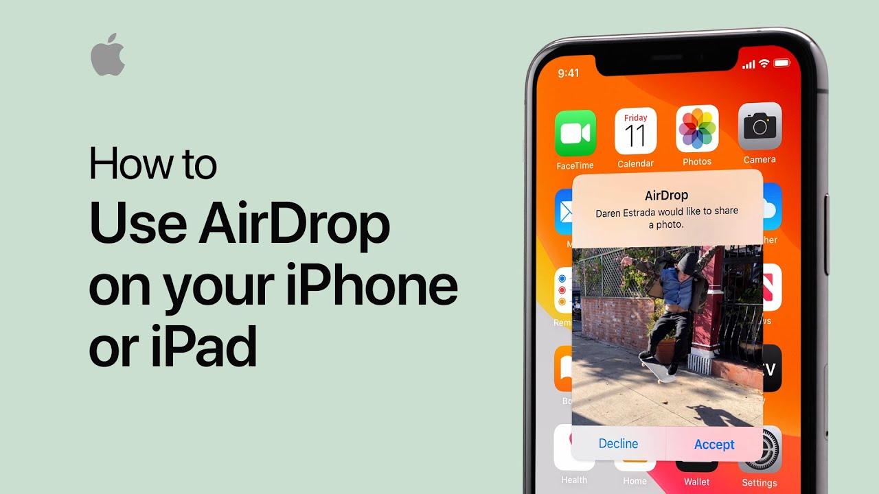 How to use airdrop on your iphone or ipad apple support youtube how to use airdrop on your iphone or ipad apple support ccuart Images
