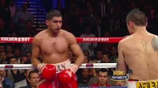 Amir Khan vs  Marcos Maidana  Highlights HBO Boxing