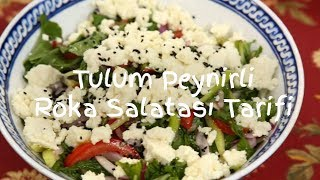 Tulum Peynirli Roka Salatası Tarifi