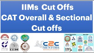 CAT Cut offs for IIMs | Open, SC, ST, EWS, NC OBC PwD | Overall & Sectional cut offs for IIMs