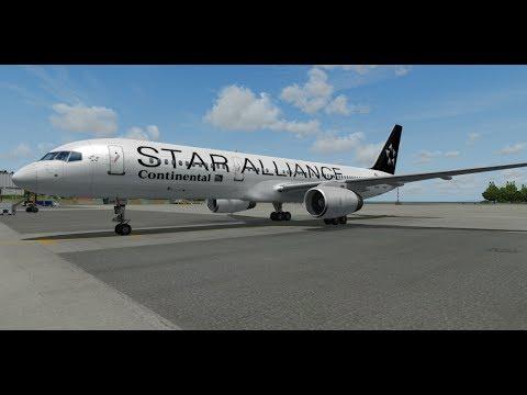 Prepar3D / Continental Airlines B752/ St. Maarten to Nassau  / START