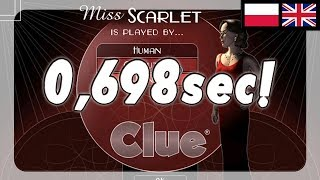 Clue / Cluedo - Speedrun in 0:00.698 sec (World Record) [Any% and Comp%]