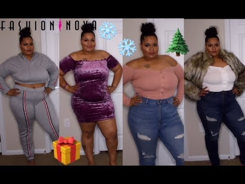 fe008353af18 Fashion nova HOLIDAY plus size curve girl try-on haul