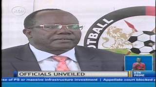 Football Kenya Federation Chairman Sam Nyamweya unveils the newly elected members
