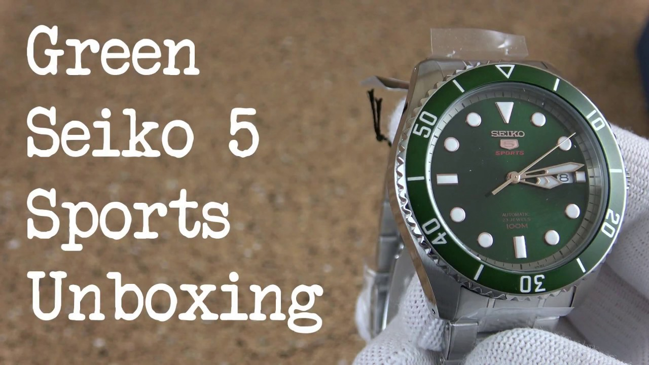 Green Seiko 5 Sports Srpb93k1 Unboxing And First Look