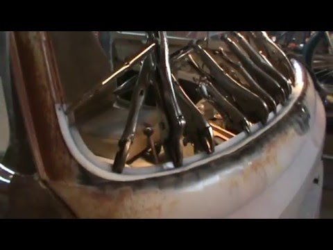 vw bus bay window windshield rust repair pt 2
