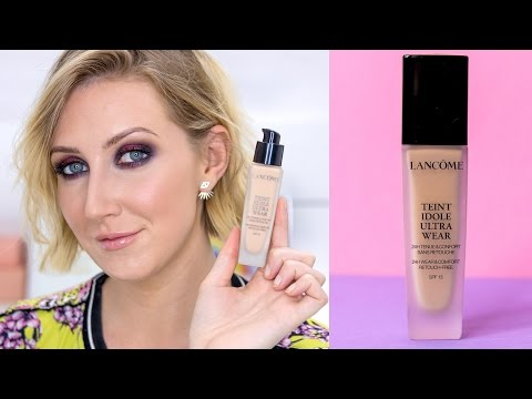HOLY GRAIL FOR OILY SKIN? Lancome Teint Idole Ultra Wear 24 HR Foundation FIRST IMPRESSION REVIEW