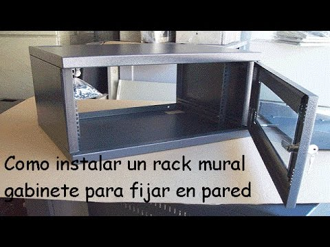 Como Instalar Gabinete Mural Rack Para Fijar A Pared