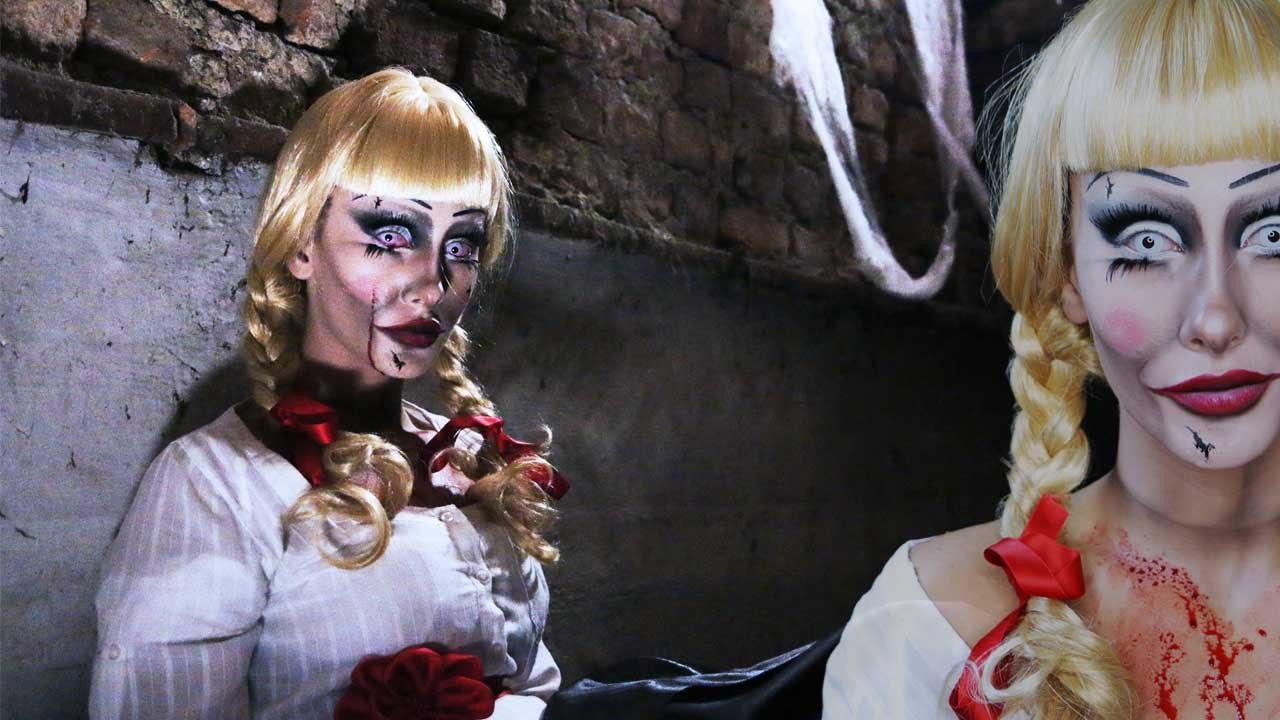 Trucco Annabelle Halloween.Annabelle Makeup Tutorial