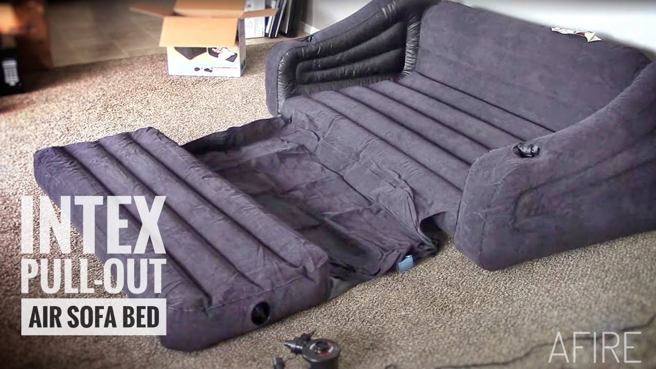 Intex Sofa Chair Karlstad Cover Pattern Pull Out Inflatable Queen Bed Review Demo Youtube