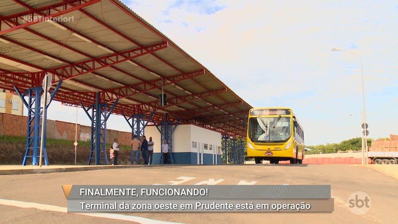 Terminal urbano da região oeste começa a funcionar em Presidente Prudente