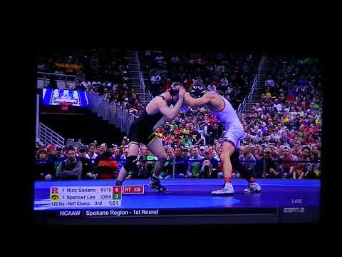 NCAA Wrestling Finals 2018 125 3Spence Lee(Iowa) Vs 4Nick Suriano(Rutgers)