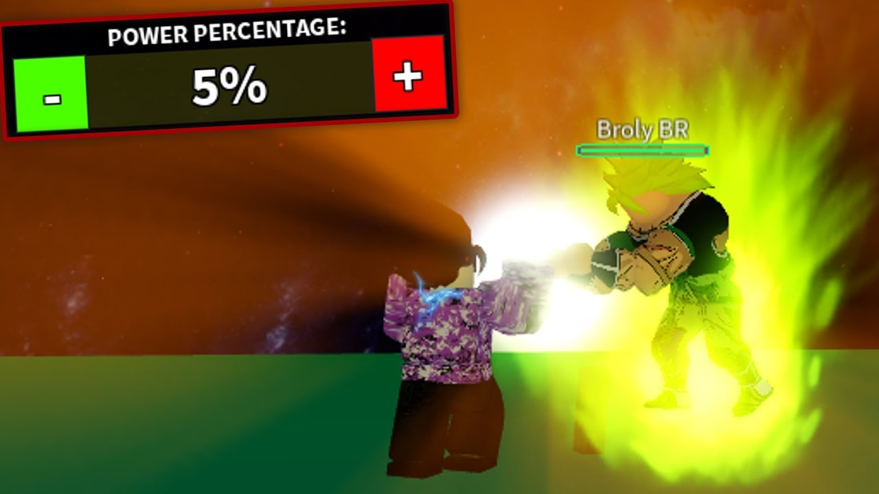 Using 5% of My Power Against Broly | DBZ Final Stand