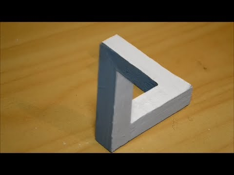 triangle 3d impossible illusion wood using pallet upcycle