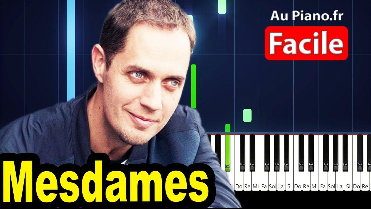 MESDAMES - Grand Corps Malade Piano Tutorial Instrumental Partition Paroles (Au Piano.fr)