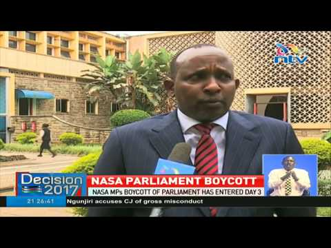 Nasa MPs boycott of parliament has entered day 3