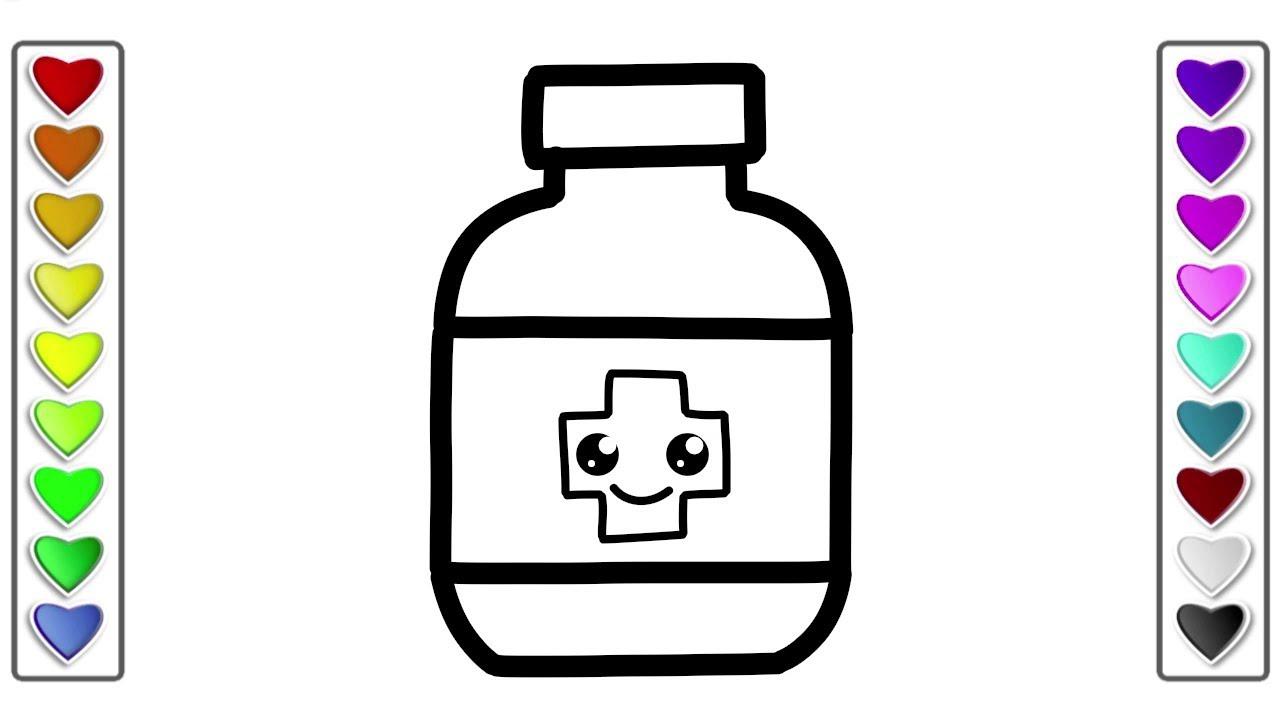 coloring pages medicine bottle - photo#15