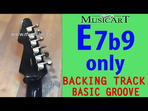one chord Backing Track: E7b9 only (E7(b9))