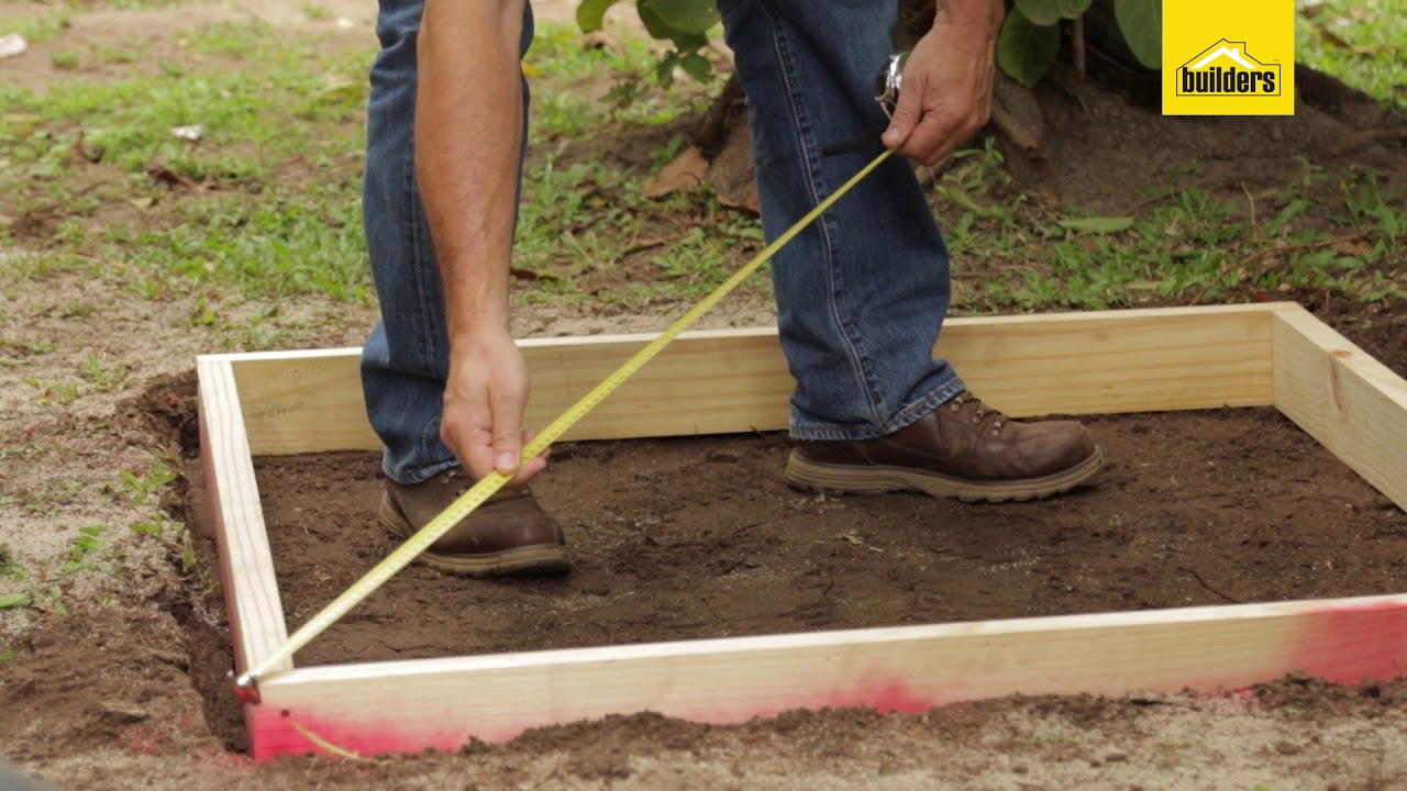diy laying a concrete slab