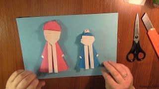 Оригами: Как сделать Снегурочку и Деда Мороза из бумаги(Новогодние поделки из бумаги - Оригами Снегурочка и Оригами Дед Мороз Оригами видео уроки для начинающих..., 2014-12-28T12:39:56.000Z)