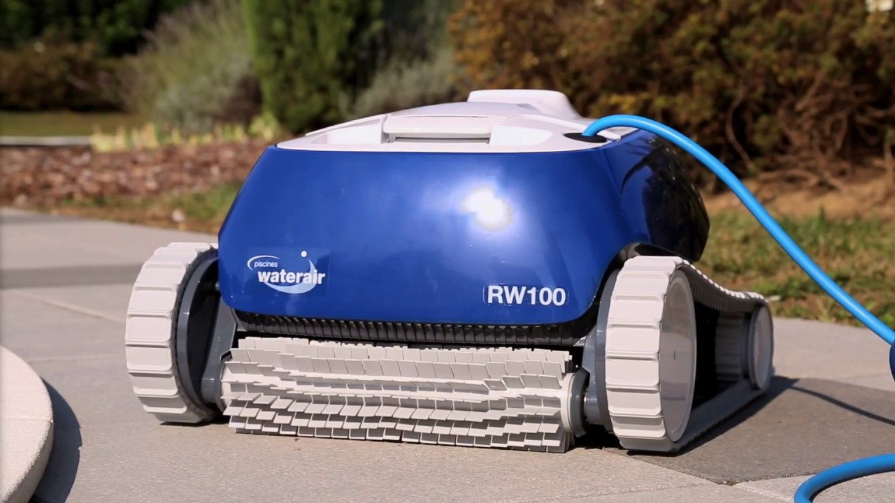 Robot nettoyeur rw100 piscines waterair youtube for Robot piscine waterair