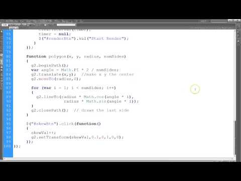 HTML Canvas Part 11 Polygon And Skew