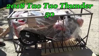 2018 Tao Tao 50cc Unboxing and first startup