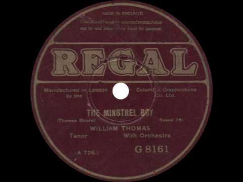 William Thomas - The Minstrel Boy - 1924