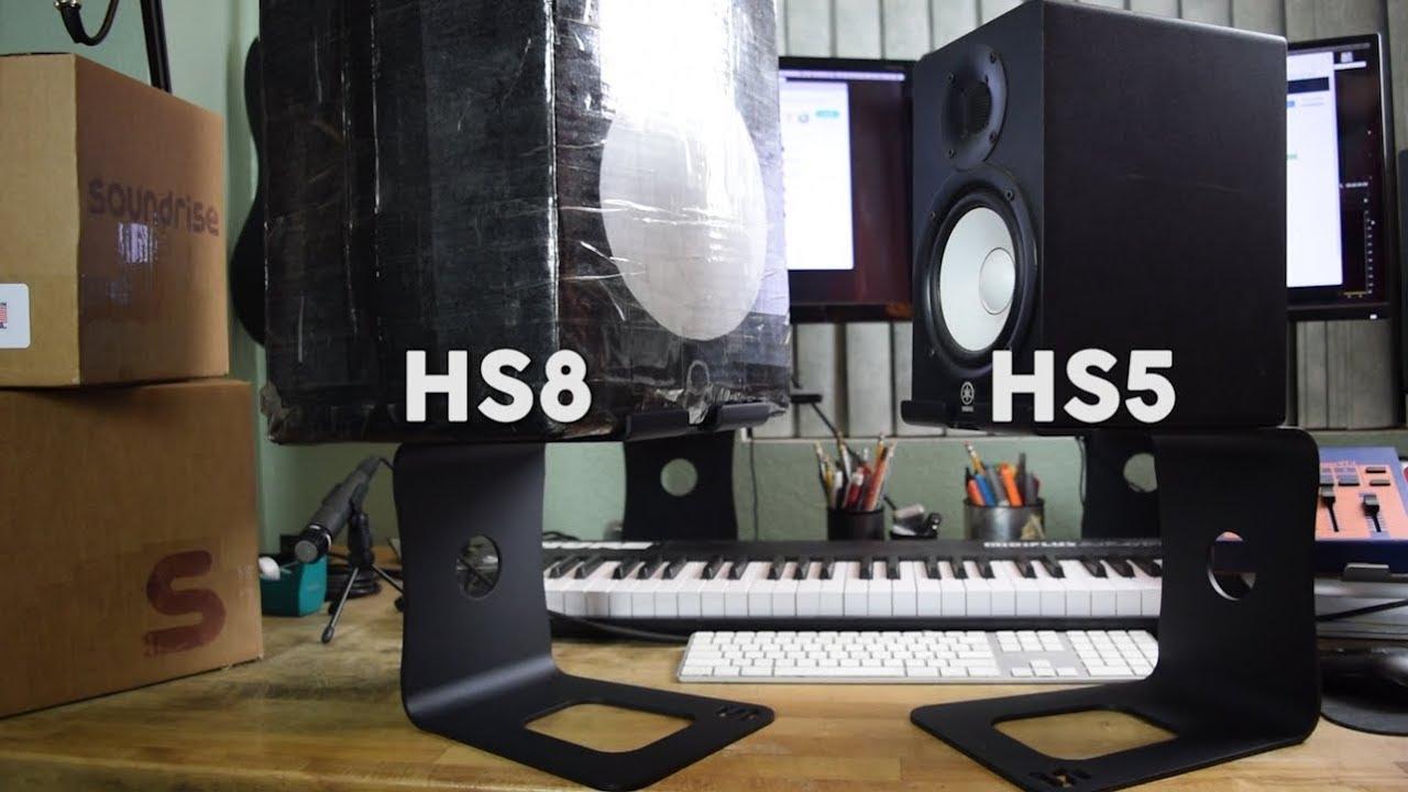 Speaker Stands For Yamaha Hs5 Amp Hs8 Youtube