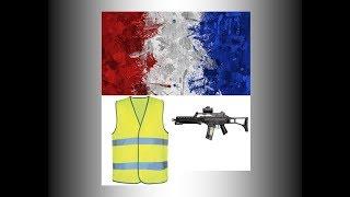 Les gilets jaunes avec les armes!!! 4K