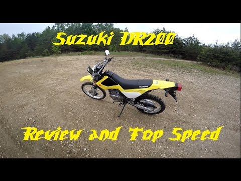Suzuki DR200 Ride Review and Top Speed run!